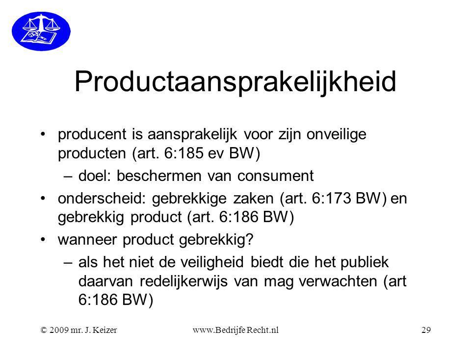 Productaansprakelijkheid