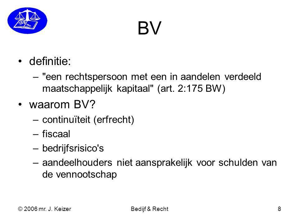 BV definitie: waarom BV