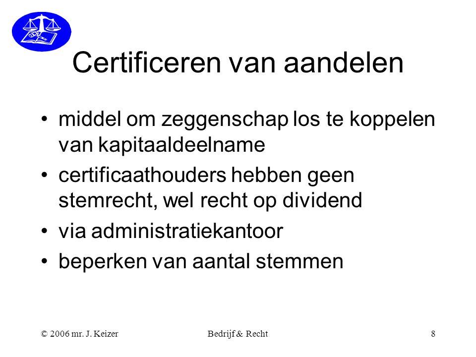 Certificeren van aandelen