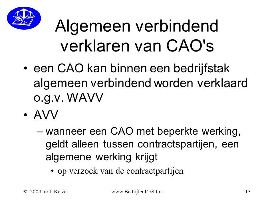 Algemeen verbindend verklaren van CAO s