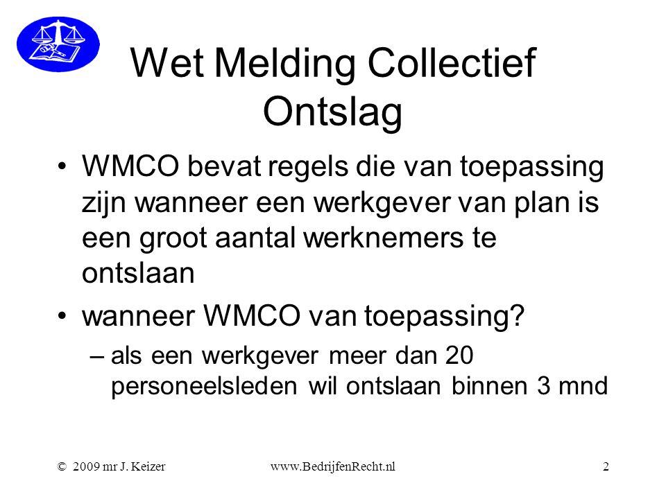 Wet Melding Collectief Ontslag