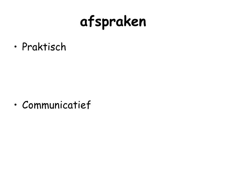 afspraken Praktisch Communicatief