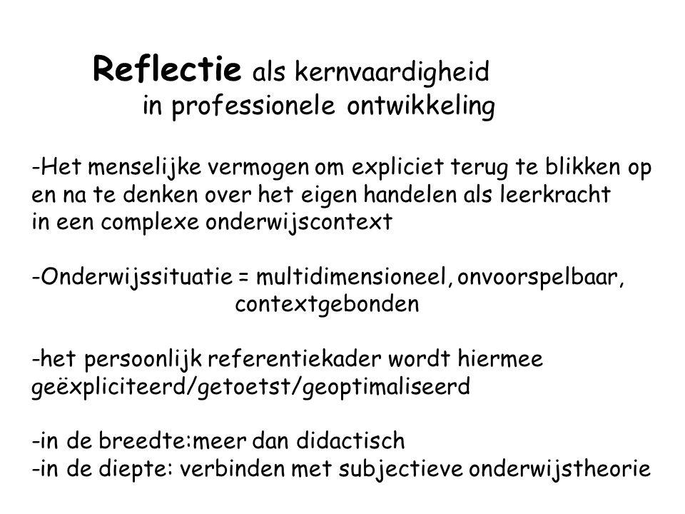 Reflectie als kernvaardigheid in professionele ontwikkeling