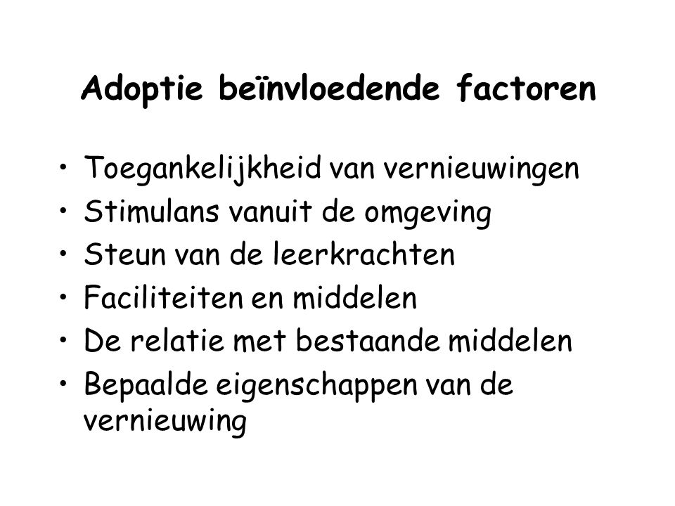 Adoptie beïnvloedende factoren