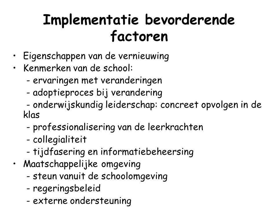 Implementatie bevorderende factoren