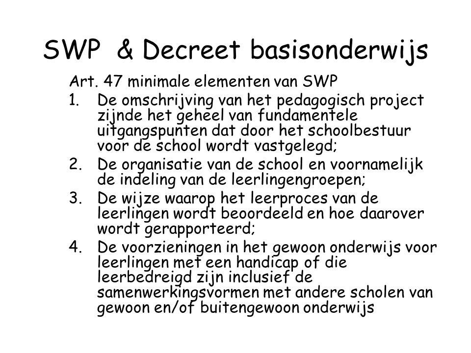 SWP & Decreet basisonderwijs