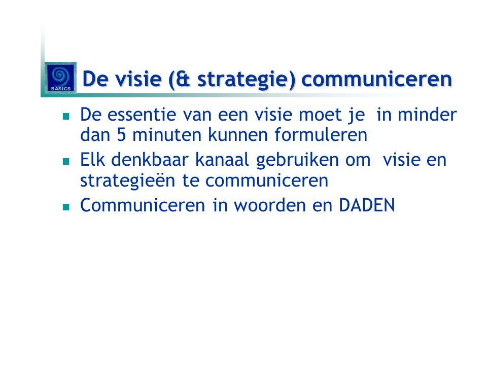 De visie (& strategie) communiceren