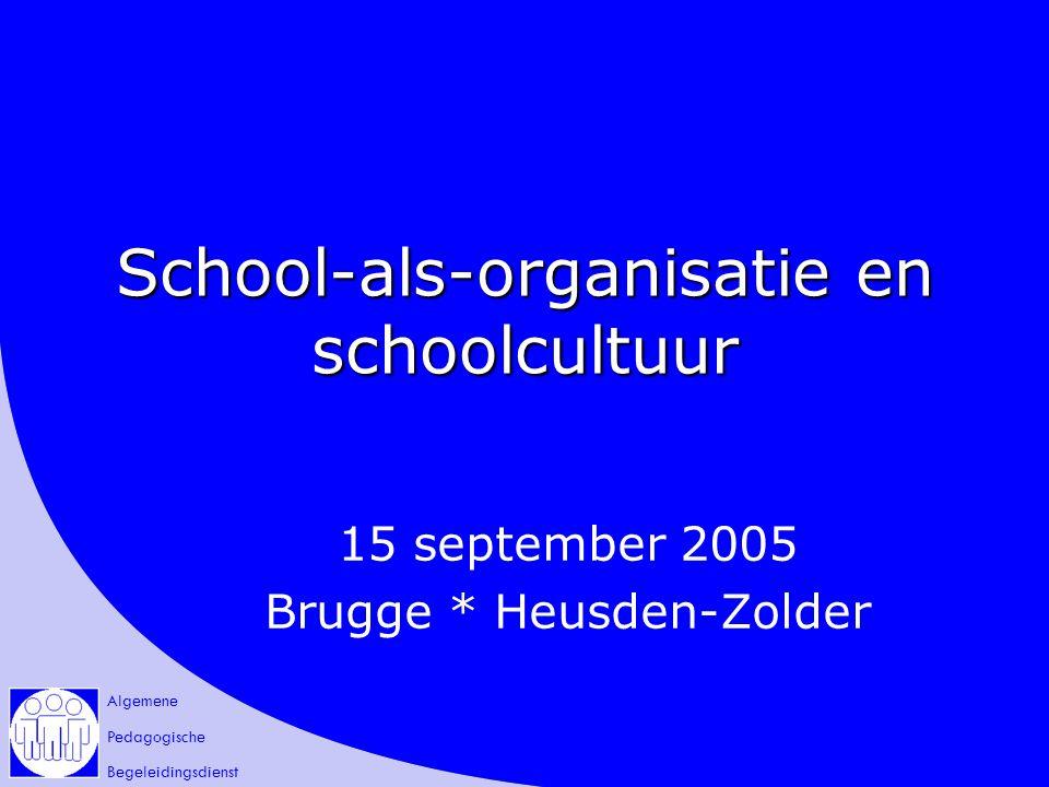 School-als-organisatie en schoolcultuur