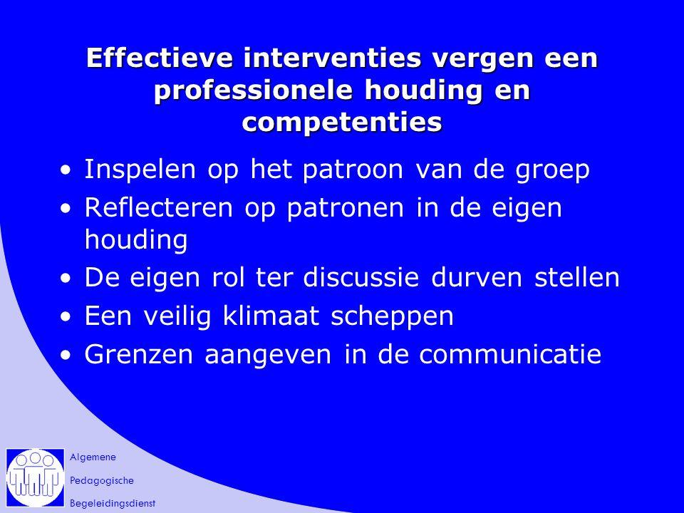 Effectieve interventies vergen een professionele houding en competenties