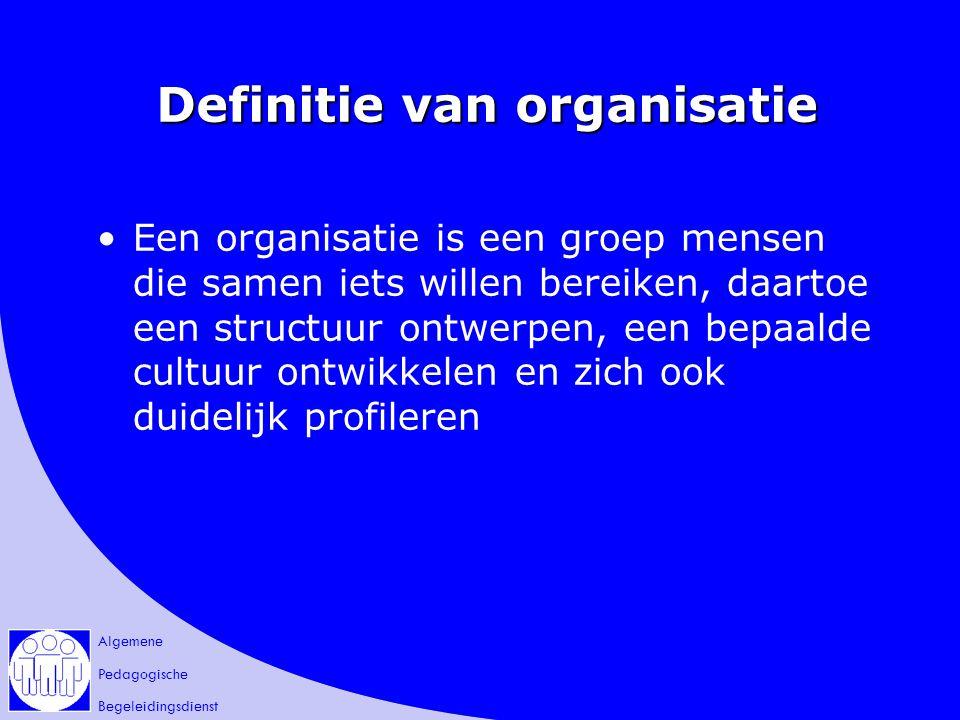 Definitie van organisatie