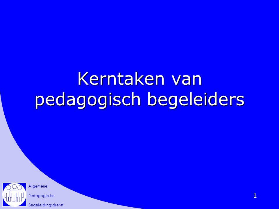 Kerntaken van pedagogisch begeleiders