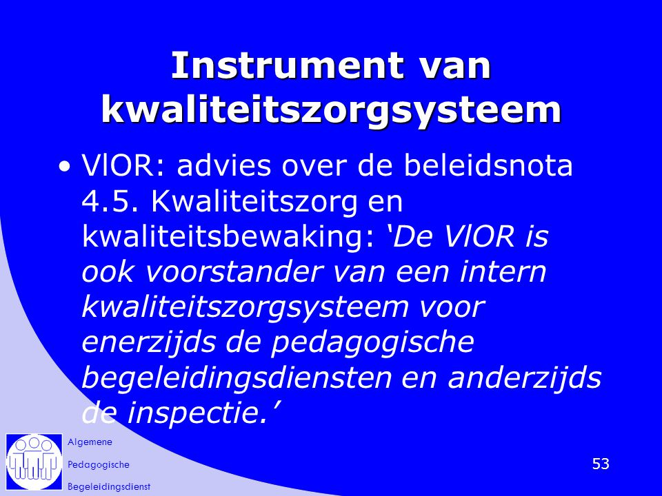 Instrument van kwaliteitszorgsysteem