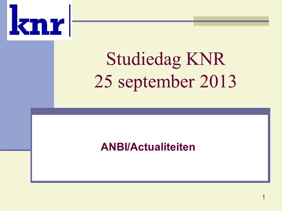 Studiedag KNR 25 september 2013