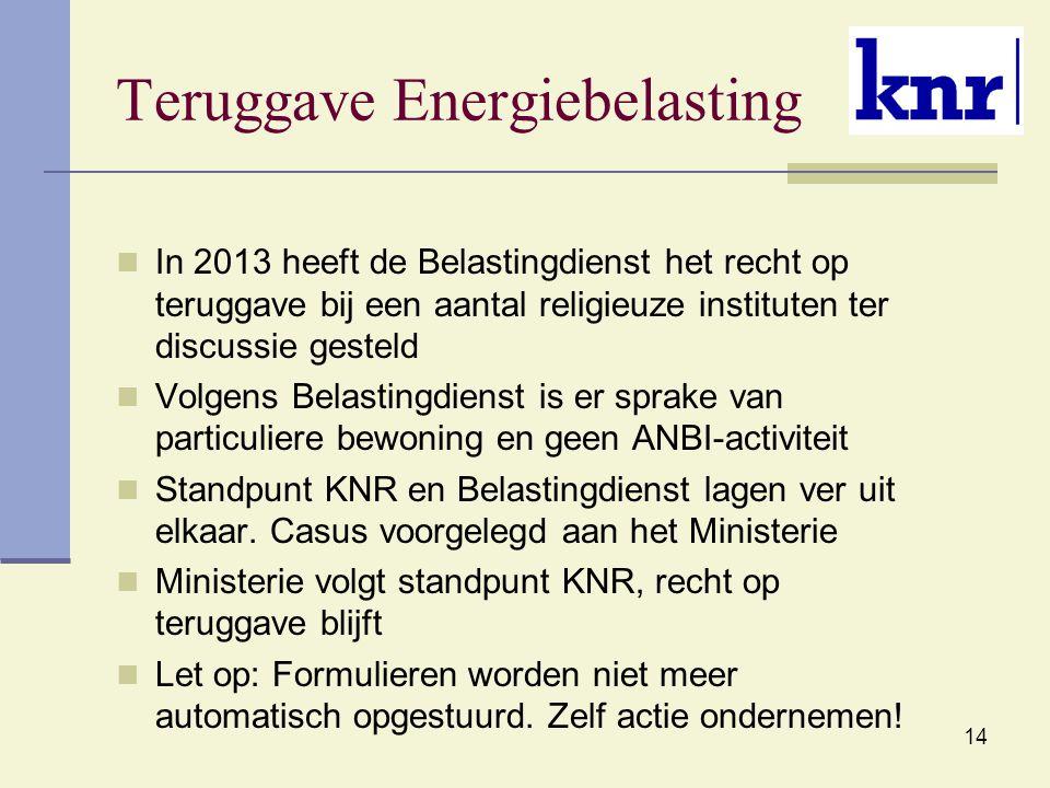 Teruggave Energiebelasting