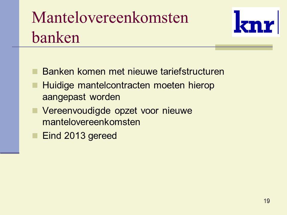 Mantelovereenkomsten banken