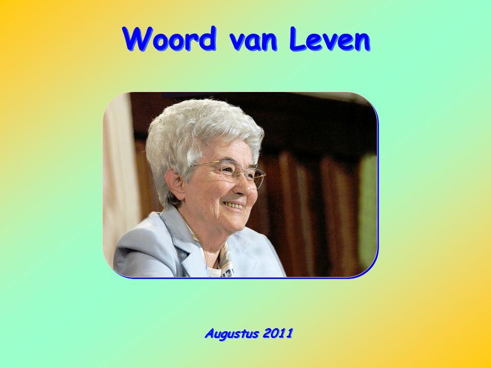 Woord van Leven Augustus 2011
