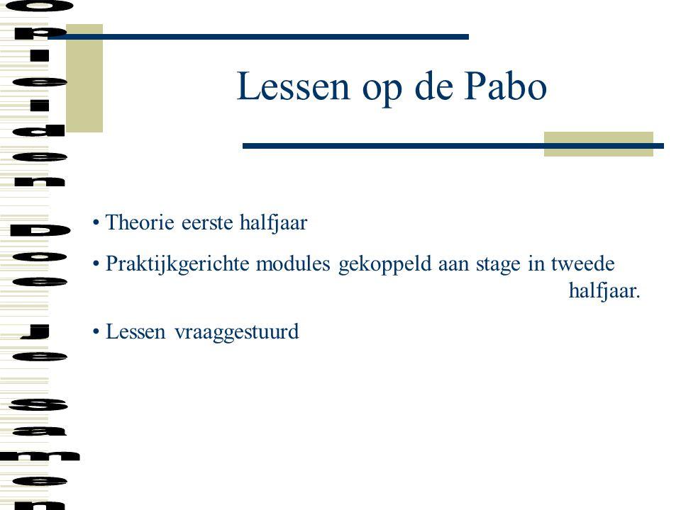 Lessen op de Pabo Opleiden Doe je Samen Theorie eerste halfjaar