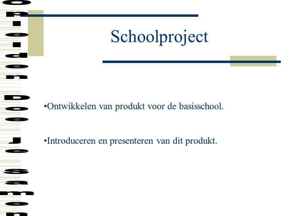 Schoolproject Opleiden Doe je Samen