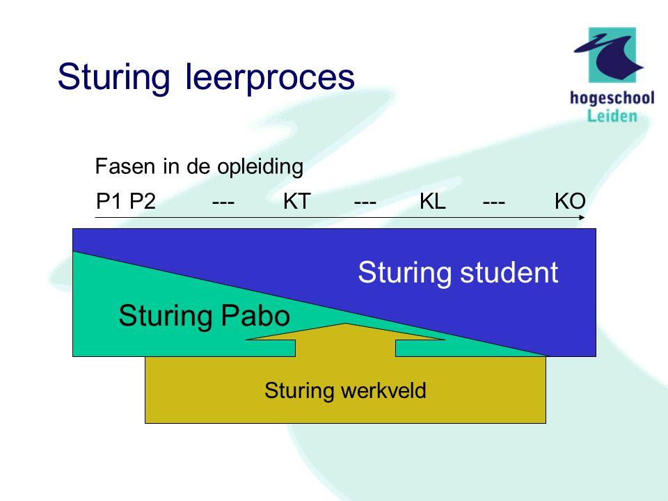 Sturing leerproces Sturing student Sturing Pabo Fasen in de opleiding