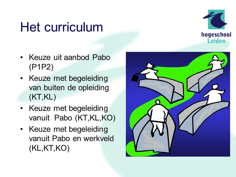 Het curriculum Keuze uit aanbod Pabo (P1P2)