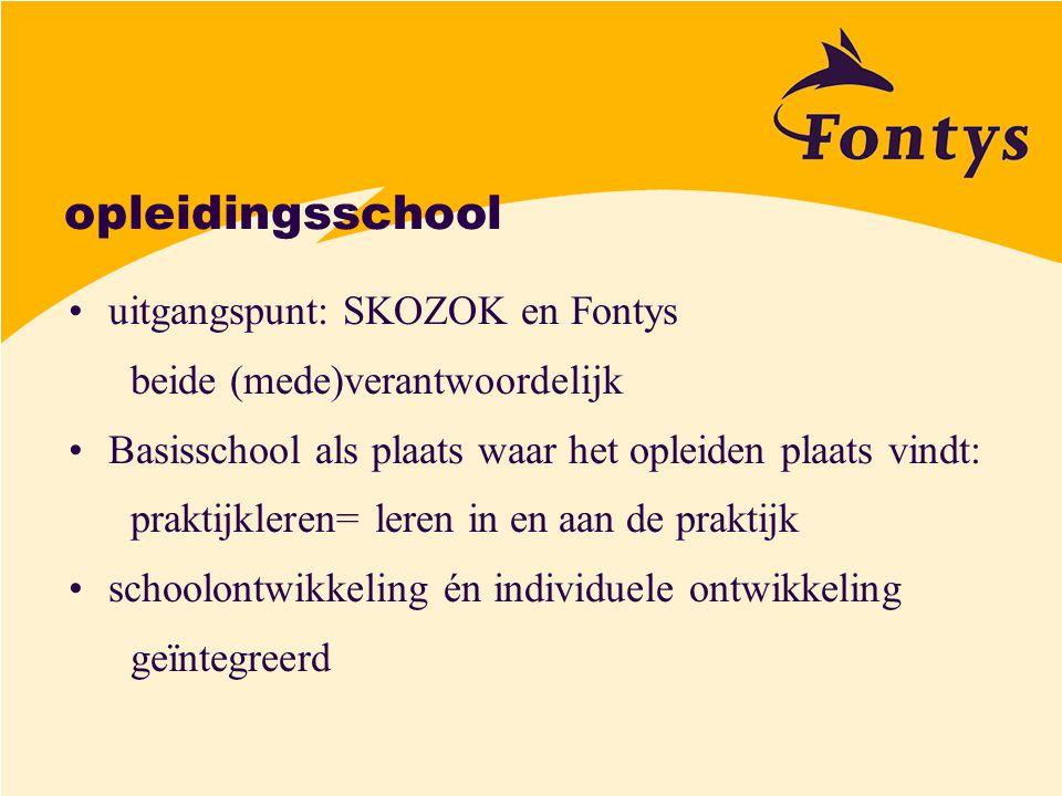 opleidingsschool uitgangspunt: SKOZOK en Fontys