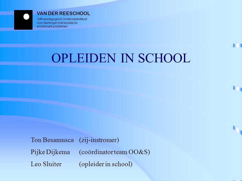 OPLEIDEN IN SCHOOL Ton Besamusca (zij-instromer)
