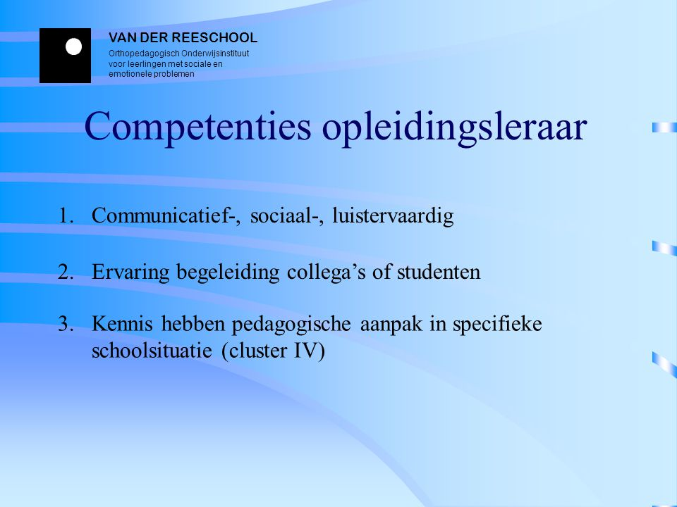 Competenties opleidingsleraar