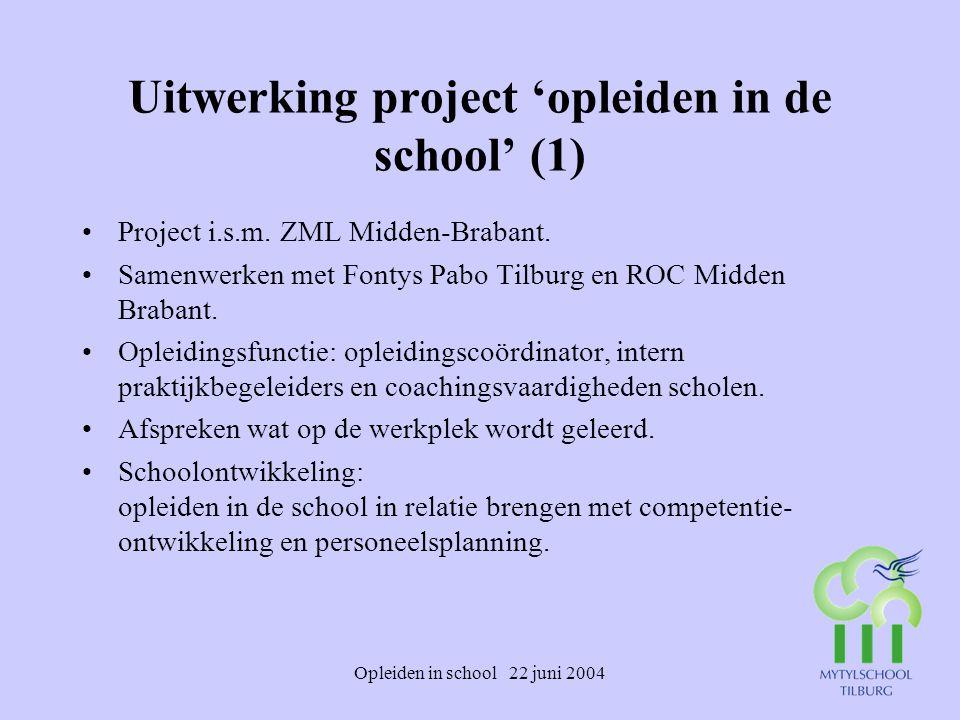 Uitwerking project 'opleiden in de school' (1)