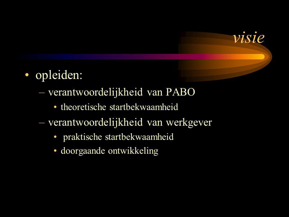 visie opleiden: verantwoordelijkheid van PABO