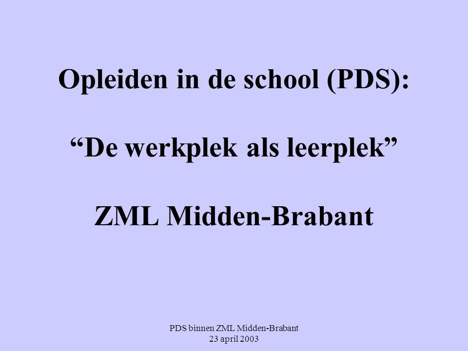 PDS binnen ZML Midden-Brabant 23 april 2003
