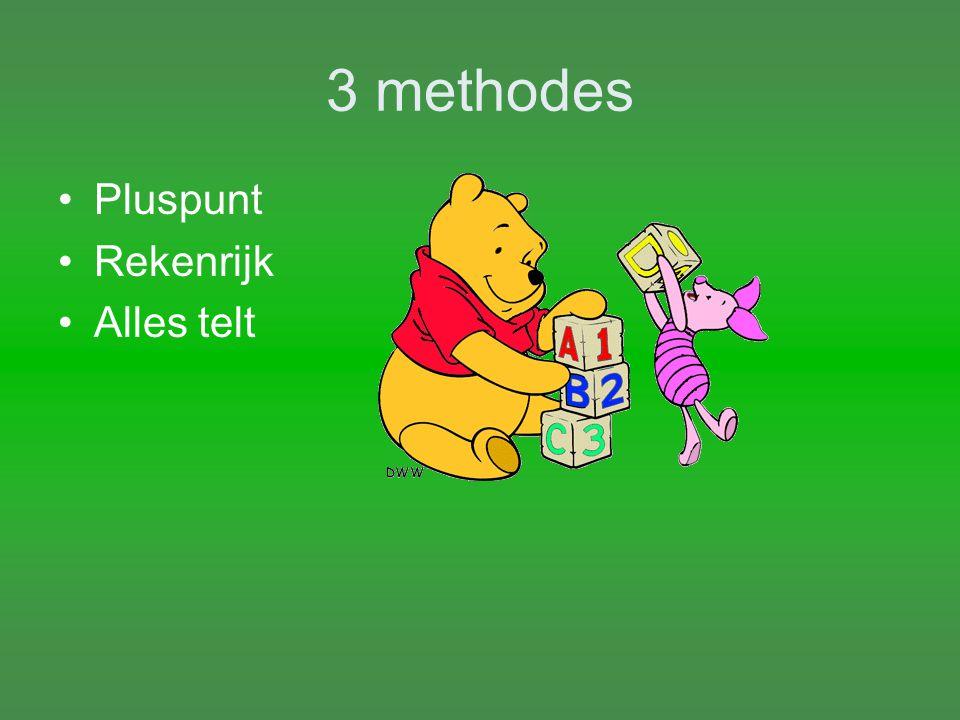 3 methodes Pluspunt Rekenrijk Alles telt