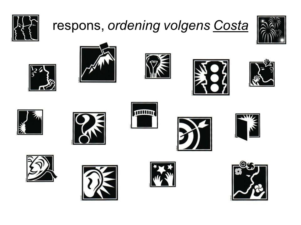 respons, ordening volgens Costa