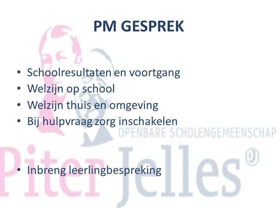 PM GESPREK Schoolresultaten en voortgang Welzijn op school