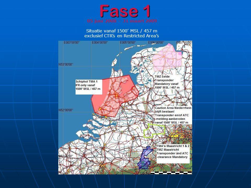 Fase 1 05 juni 2008 – 31 maart 2009 Situatie vanaf 1500' MSL / 457 m