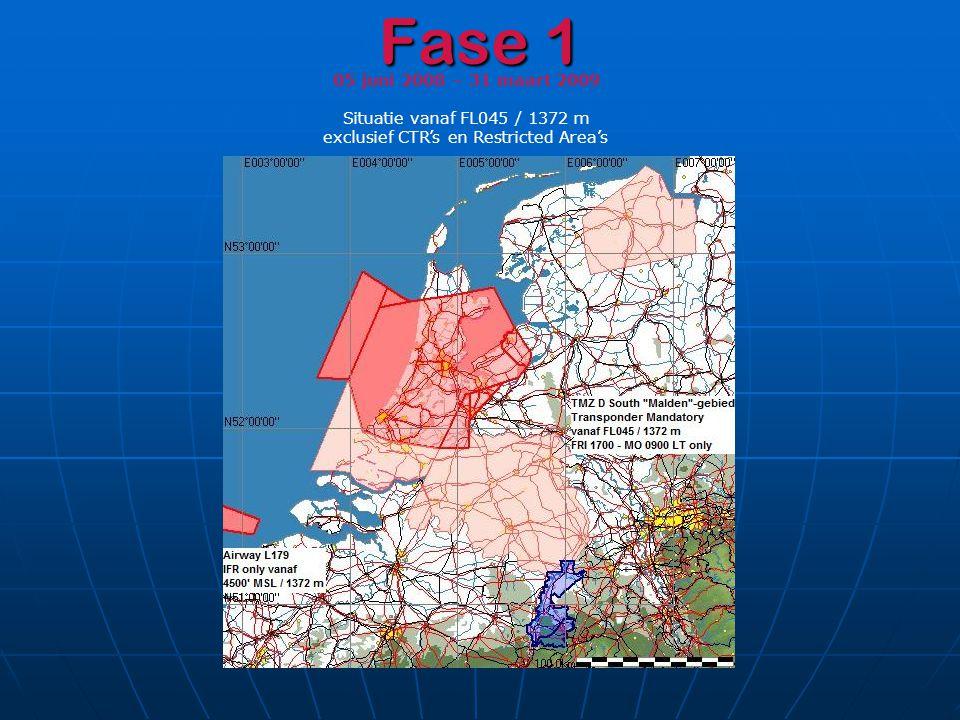 Fase 1 05 juni 2008 – 31 maart 2009 Situatie vanaf FL045 / 1372 m