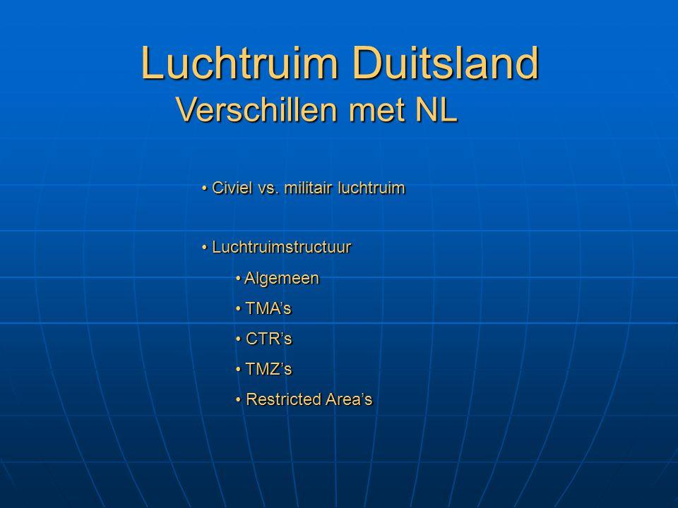Luchtruim Duitsland Verschillen met NL Civiel vs. militair luchtruim