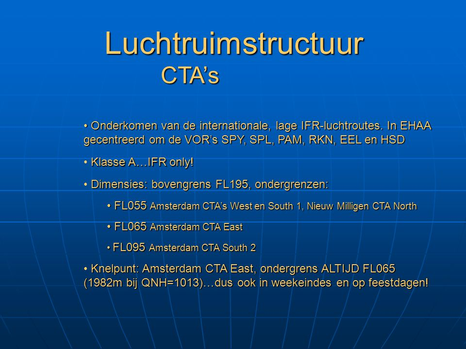 Luchtruimstructuur CTA's