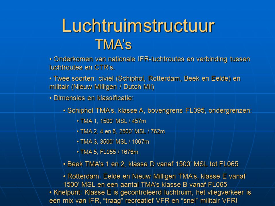 Luchtruimstructuur TMA's