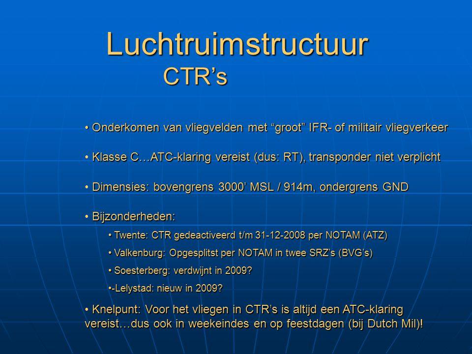 Luchtruimstructuur CTR's