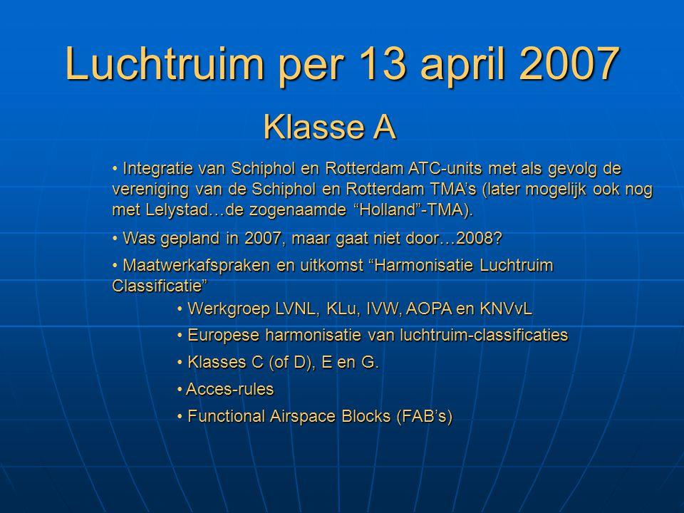 Luchtruim per 13 april 2007 Klasse A