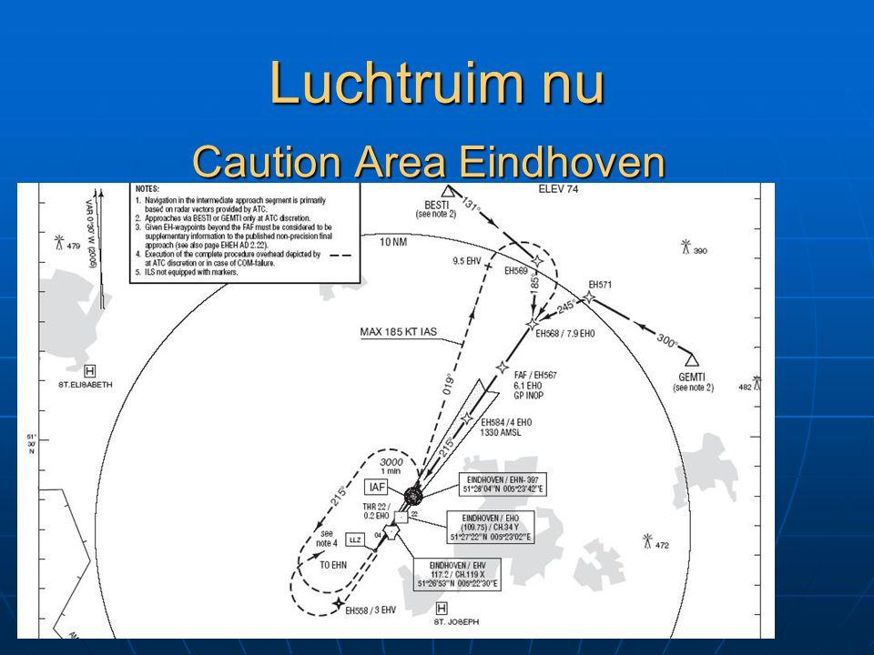 Luchtruim nu Caution Area Eindhoven altijd actief 2500 AMSL – FL065