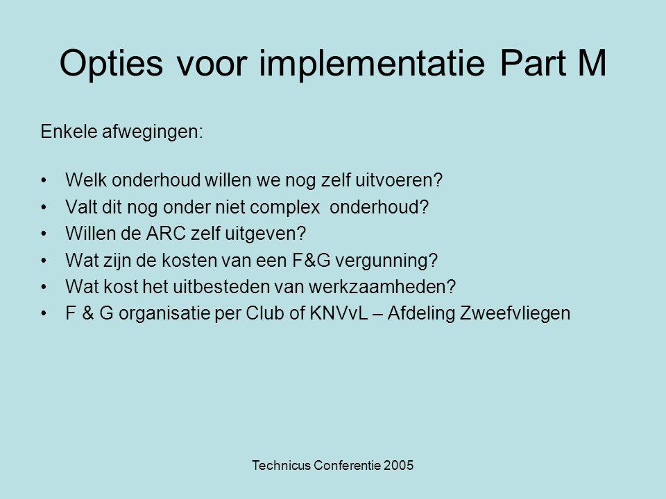 Opties voor implementatie Part M