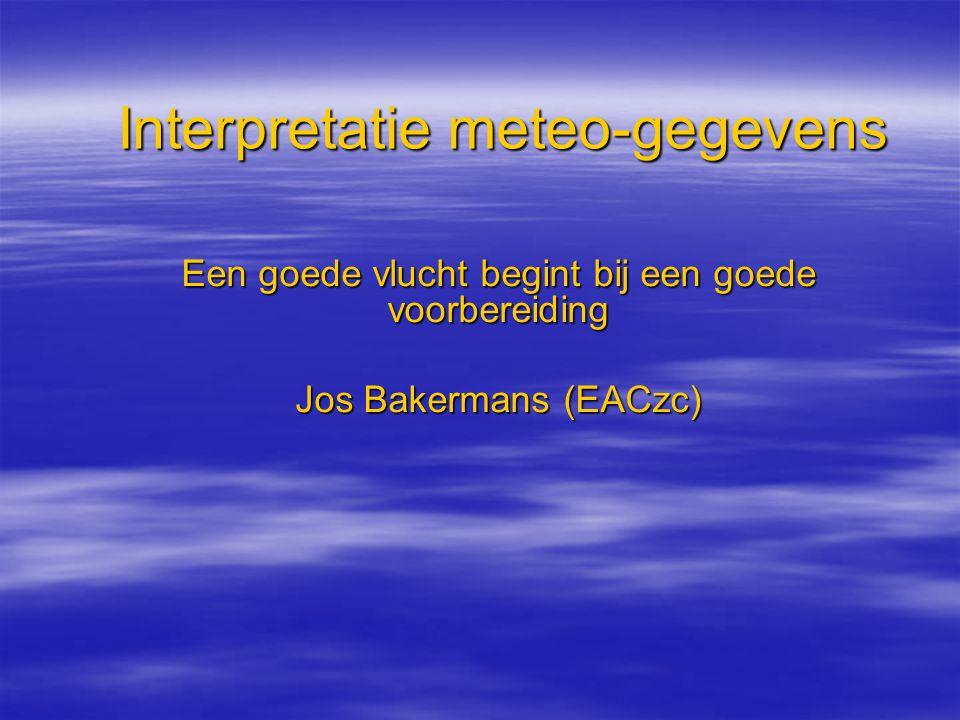 Interpretatie meteo-gegevens