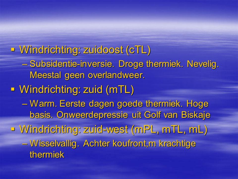 Windrichting: zuidoost (cTL)