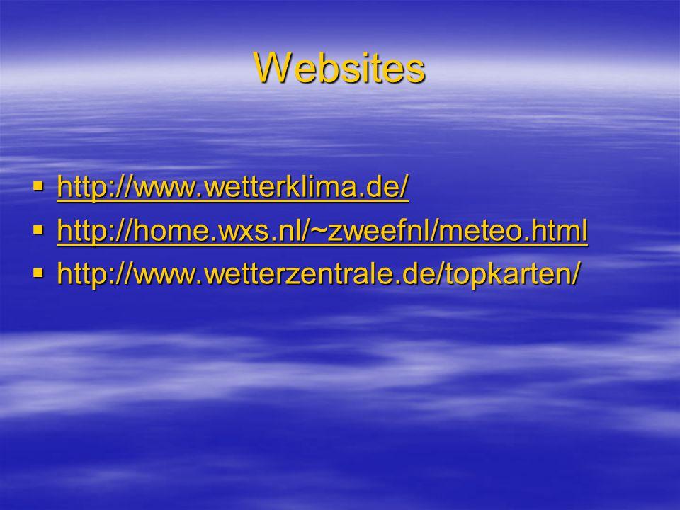 Websites http://www.wetterklima.de/