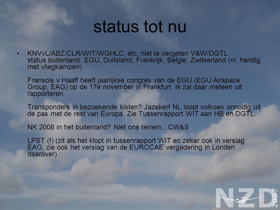status tot nu