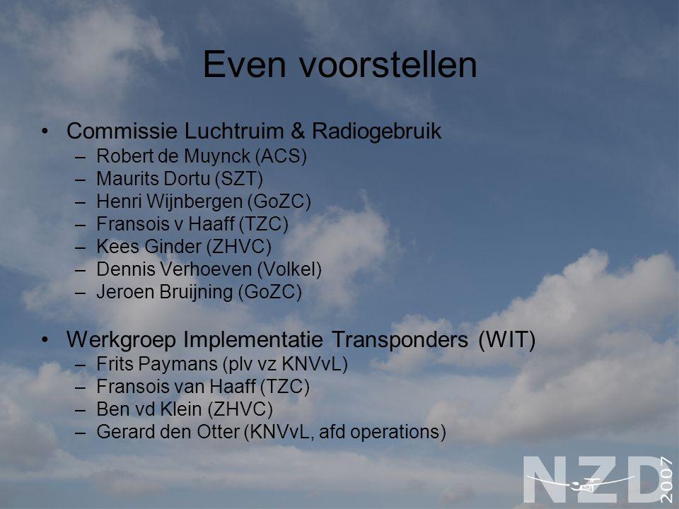 Even voorstellen Commissie Luchtruim & Radiogebruik