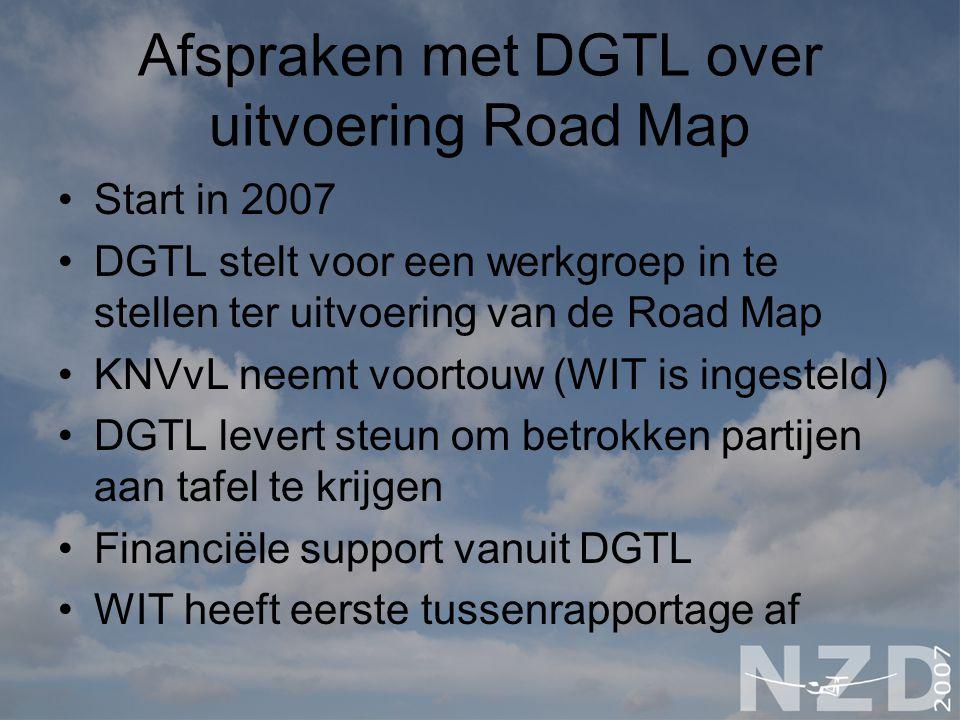 Afspraken met DGTL over uitvoering Road Map