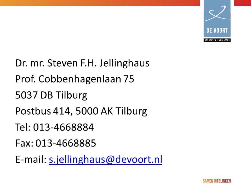 Dr. mr. Steven F. H. Jellinghaus Prof