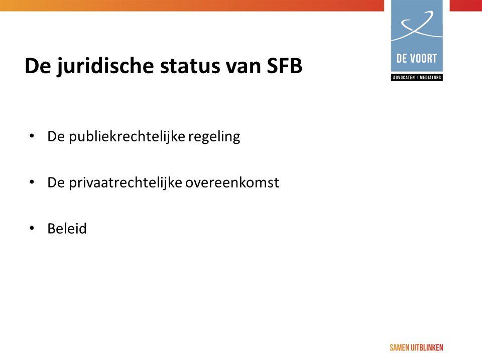 De juridische status van SFB